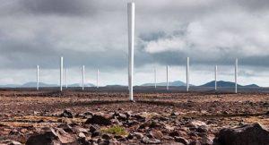 So soll das Windkraftwerk von Vortex Bladeless aussehen.