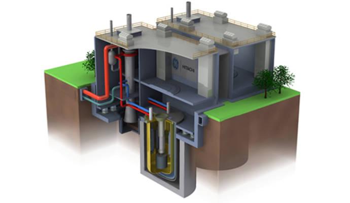 Der Prototyp der Prism Reaktors - ein weiter entwickelter und wesentlich sicherer schneller Brüter - sagt GE Hitachi. © GE Hitachi.