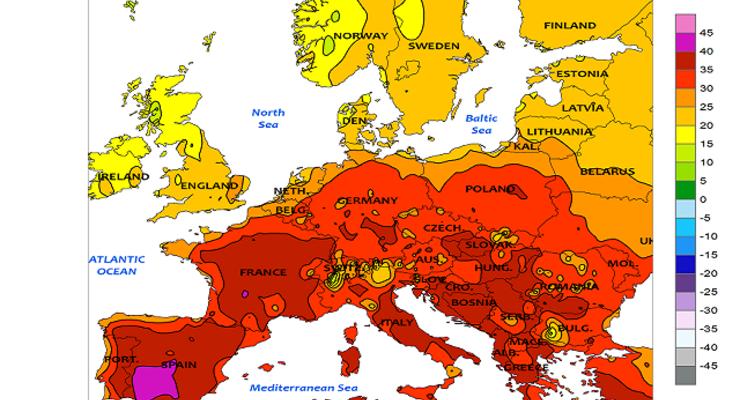 Klimawandel und Hitzewelle in Deutschland