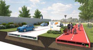 Die PlasticRoad wäre gut für den Umweltschutz. Außerdem wäre sie Asphaltstraßen zum Teil sogar überlegen. © VolkerWessels