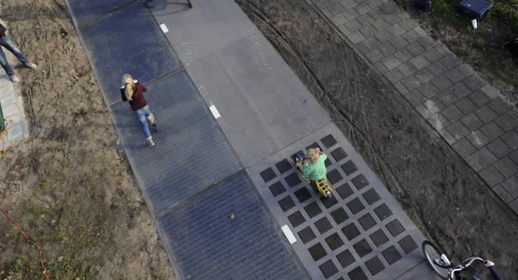 Solarenergie Radweg