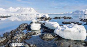 Arktis Eisschmelze durch Klimawandel
