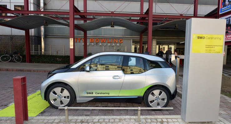 Elektroautos Carsharing