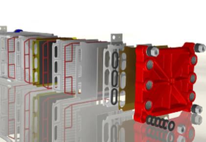 Aufbau einer BrennstoffzelleAufbau einer Brennstoffzelle