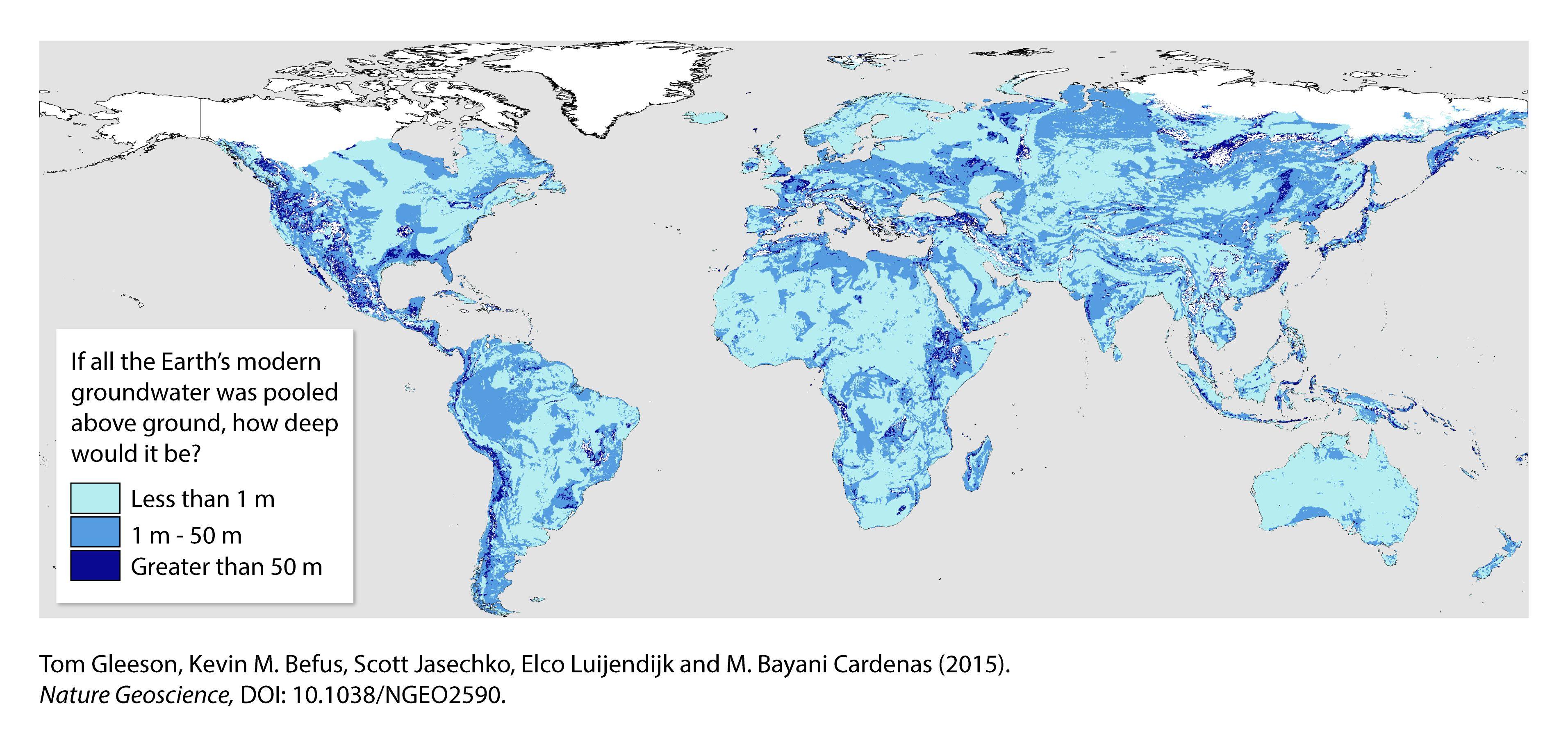 Kartierung des modernen Grundwassers