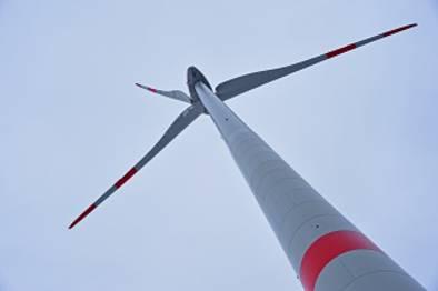 Windpark in Weikersheim/Baden-Württemberg.