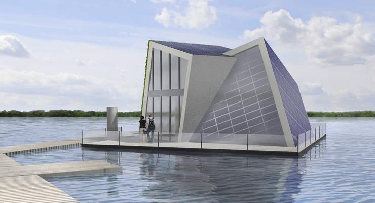 Schwimmendes energieautarkes Haus