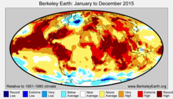 2015 erneut wärmstes Jahr