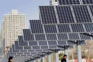 Solarenergie in China boomt: Plus von 72 Prozent. Foto: AFP