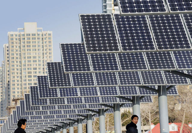 Solarenergie in China boomt: Plus von 72 Prozent. Foto: AFP