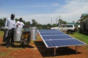 System für solare Milchkühlung.