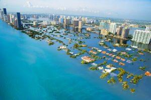 Erderwärmung um 3 Grad; Küstenstädte durch Überflutungen in Gefahr