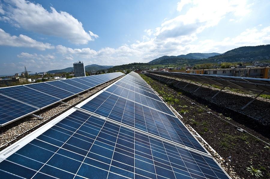Photovoltaikanlage in Freiburg.