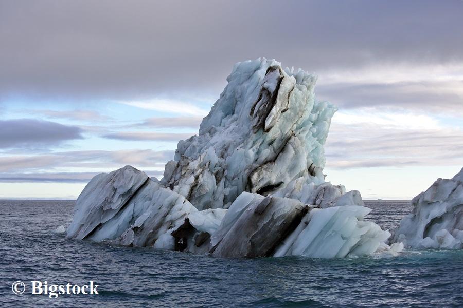 Eisschmelze durch atmosphärische Erwärmung