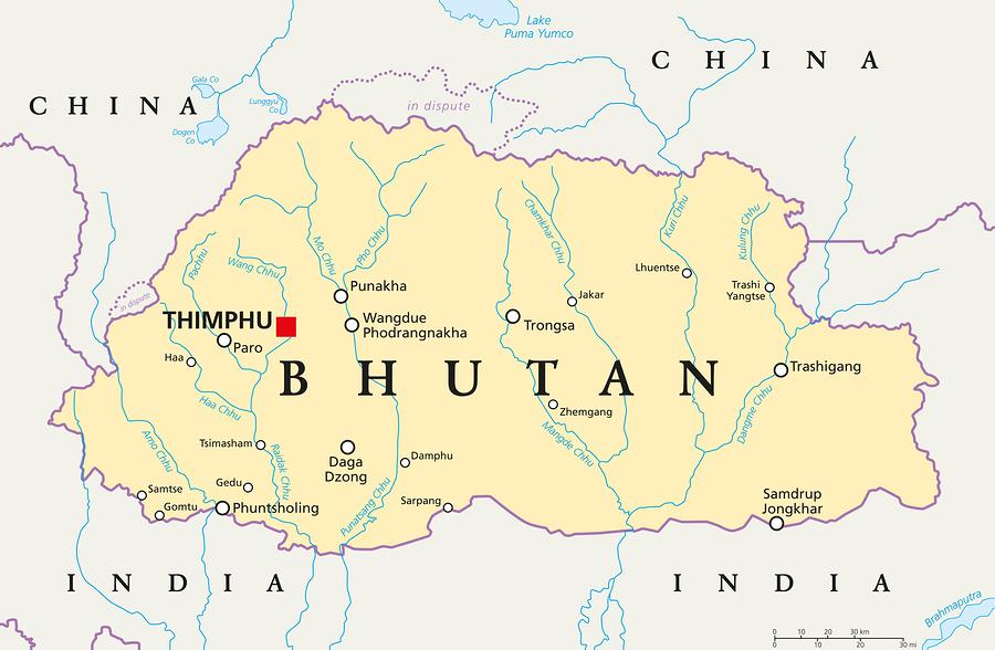 Bhutan - Ein Gebirgsstaat umschlossen von Indien und China