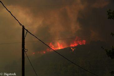 Großbrand als Folge von Extremwetterereignissen