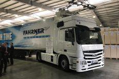 Auch in Baden-Württemberg werden elektrische Oberleitungs-LKW getestet