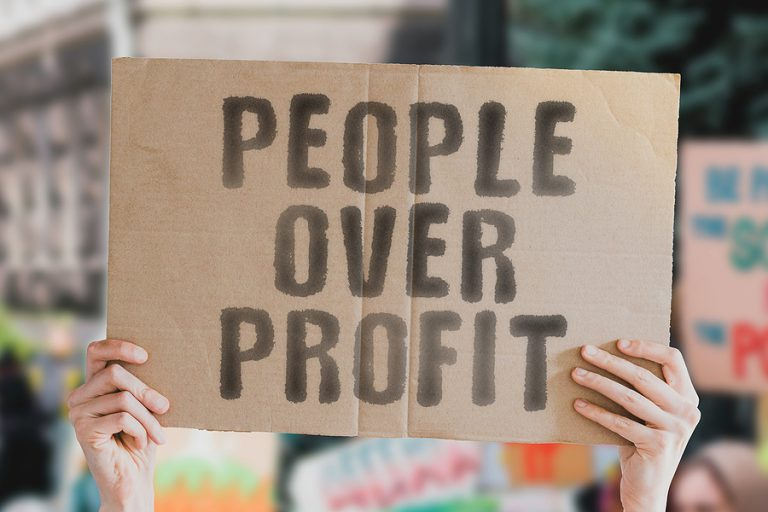 """People Over Profit"""